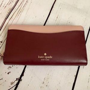 ♠️kate spade kerri cherrywood Wallet NEW